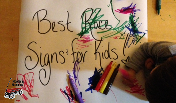 Best Race Signs for Kids: Monterey Mommies