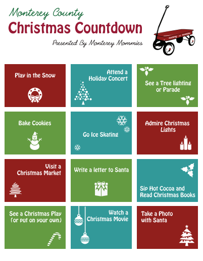 Monterey County Christmas Countdown -MontereyMommies.com