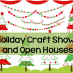 2014 Holiday Craft Shows and Open Houses