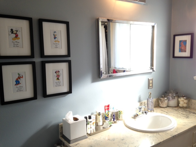 Guest Bath Make-Over: MontereyMommies.com